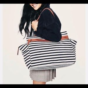 DSW Striped Weekender Bag